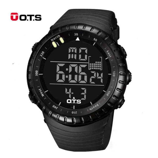 Men Military Army Sport Wrist Watch Analog Digital Waterproof Stainless Steel