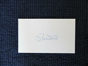 Bobby Doerr signed autographed 3 x 5 card MLB '37-'51 (d.1992) HOF 1986 Red Sox