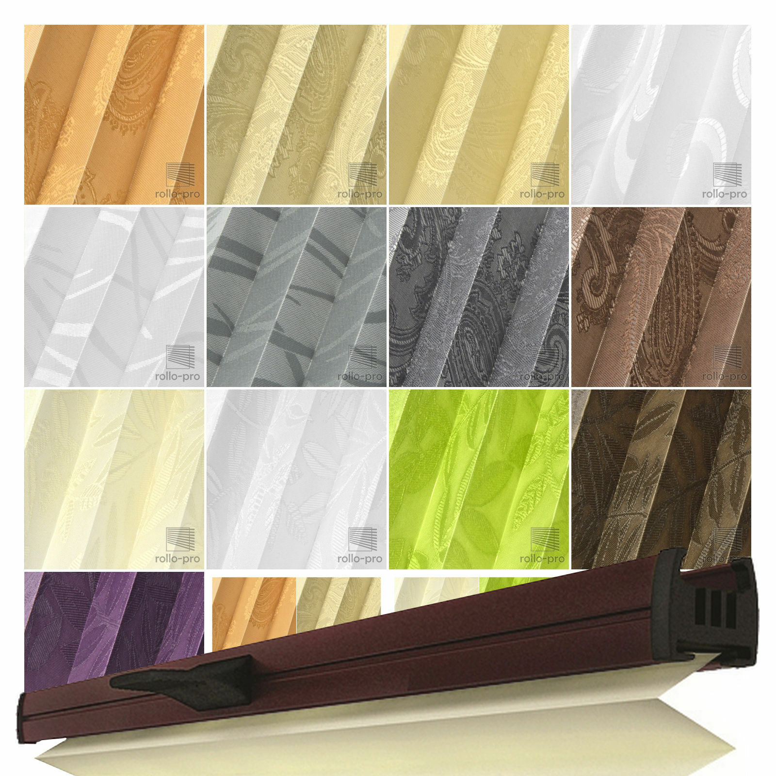 Plissee Faltrollo Faltrollo Faltrollo nach Maß ►FIGURADO Profil Braun ►Rollos Plissees Jalousien   Tragen-wider  0b356e