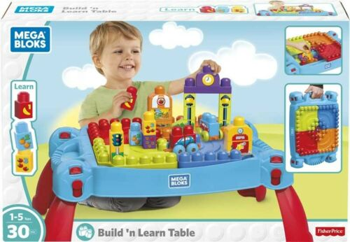 MEGA BLOKS BUILD N LEARN TABLE BLUE