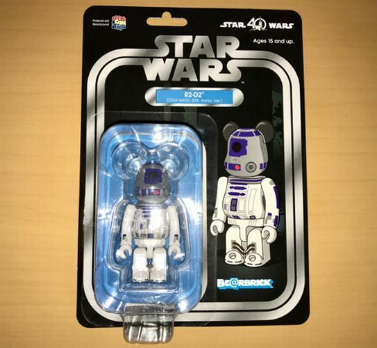 BE@RBRICK 100% 100% R2 - D2 STAR ​​WARS 40th Anniv. Ver. Figure Bear Brick MedicomToy