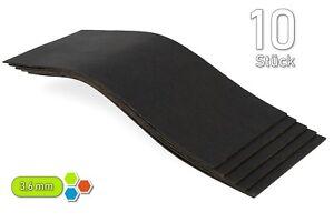 10 Bitumen 250 x 100 x 3,6 mm Antidröhn Dämmmatten Bitumenmatten zB HiFi B3605