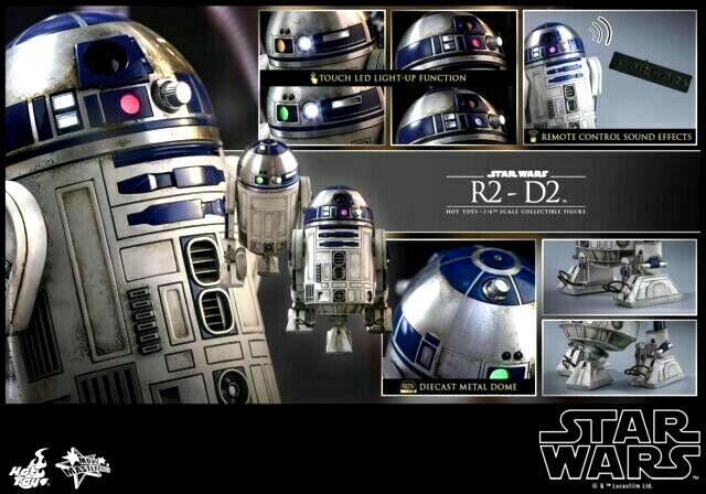 "HOT TOYS R2-D2 STAR WARS MMS408 BRAND NEW SHIP SEALED 1/6 SCALE 12"" FORCE AWAKEN on eBay thumbnail"