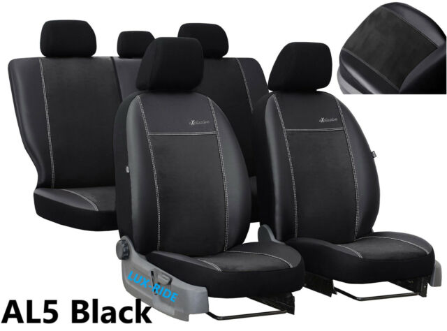 MITSUBISHI L200 1+1 2006-2015 ECO LEATHER /& ALICANTE SEAT COVERS MADE TO MEASURE