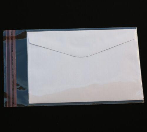 200 St. DIN C6 Schutzhüllen für Einsteckkarten Ansichts-Sammelkarten Umschläge