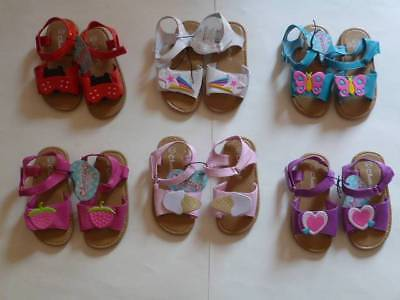 GYMBOREE Unicorn Garden Pink Gummy Sandals Shoes Toddler Sz 3 4 5 6  8 9 10 NEW