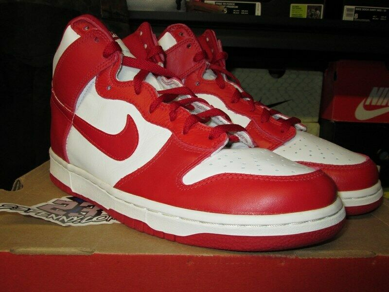 747852bfff NIKE DUNK HIGH HI LE VARSITY RED WHITE ST JOHNS CO JP 1999 NEW 630335 161
