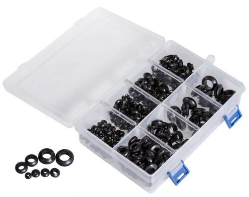 296-teiliges Kabeldurchführung Sortiment Gummitüllen Gummi Durchgangstüllen