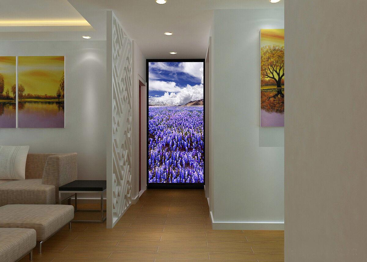 3D Bule Flowers Field Clouds 05 Wall Paper Wall Print Decal Wall AJ WALLPAPER CA