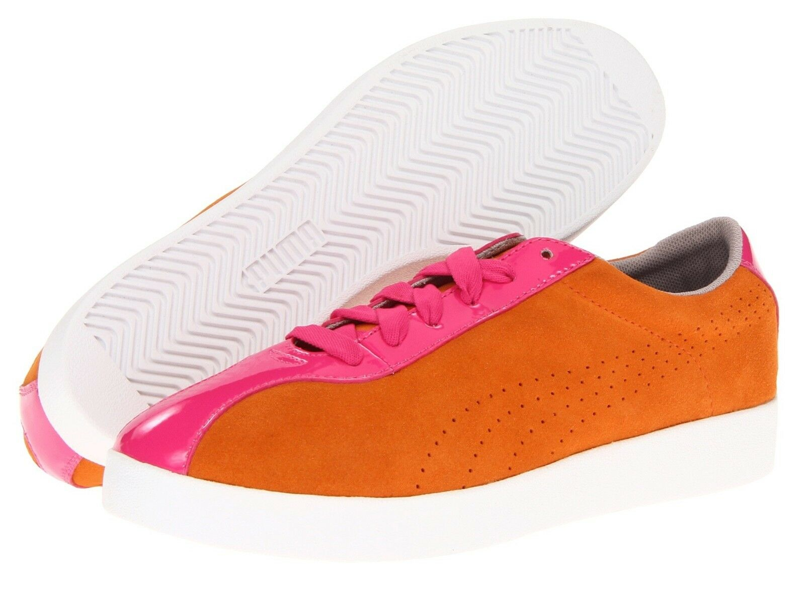 Puma MUNSTER Women's Sneakers Lace-Up Oxford Flat Shoe Orange/Popsicle 5.5 New