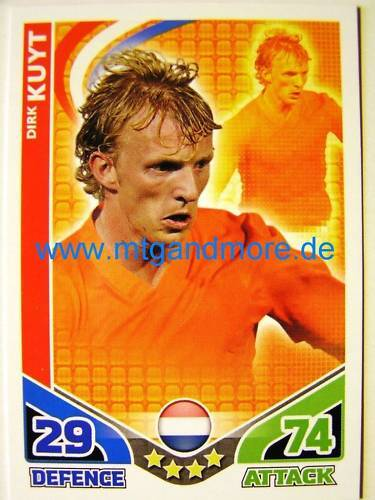 Match ATTAX world stars-Dirk Kuyt-pays-Bas