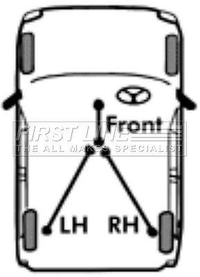 First Line Parking Hand Brake Cable Handbrake FKB1979-5 YEAR WARRANTY