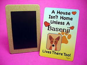 "Sku# 46 Dog Fridge Magnet /""Basenji/"" A House Isn/'t Home"