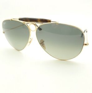 6005a4b1186 Ray Ban 3138 181 71 62mm Gold Havana Gray Fade Shooter New Authentic ...