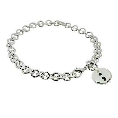 Semi Colon Depression Bracelet Prevention Awareness Jewelry Usa Er Ebay