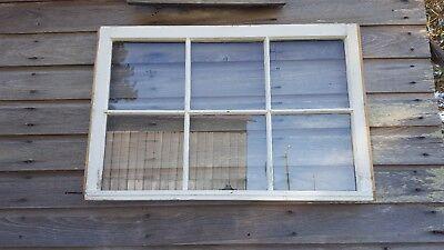 VINTAGE SASH ANTIQUE WOOD WINDOW PICTURE FRAME PINTEREST 36x28 RUSTIC DISTRESSED