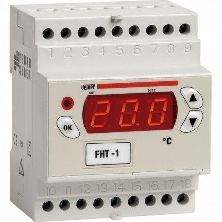 Termoregolatore digitale da barra DIN FHT-2DA VEMER  VM670700