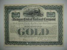 $1,000 Michigan Central Railroad Company Bond Stock Certificate 1940's Train