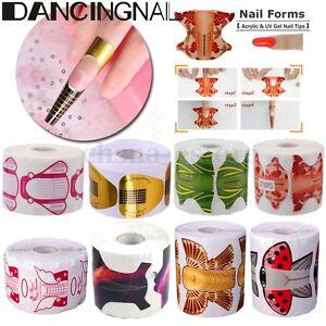 Extensión Uñas Manicura Arte Clavo Guía Forma Moldes Acrílico Diseño Nail Art