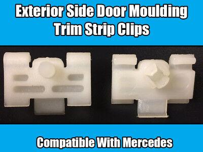 MERCEDES-BENZ Side Door Moulding Strips Trim Panel Clips 10X