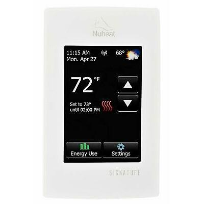 Nuheat AC0055 SIGNATURE Wi-Fi Touchscreen Programmable Thermostat 120V / 240V