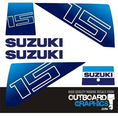 Suzuki DT5 5HP Two stroke Outboard Engine Decals Sticker Set reproduction  5 HP