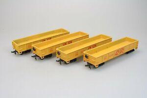 Bachmann-17206-4x-40-039-Gondola-Car-der-Union-Pacific-in-H0