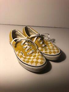 Yellow checkered Vans Women's Size 6   eBay