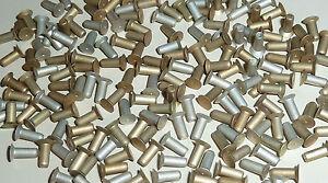 Halbrundkopf 200 Stk Voll Nieten aus Alu; 2,5x 6; Vollnieten; Niete