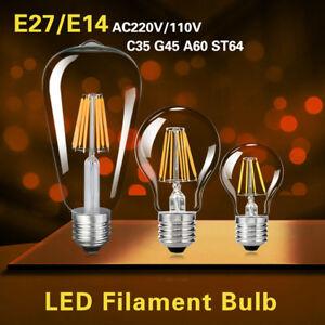 e27 e14 4 16w led retro edison filament gl hbirne birne. Black Bedroom Furniture Sets. Home Design Ideas