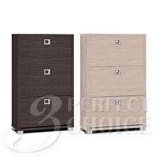 Item 5 Wooden Organizer Shoe Cabinet Storage Rack Shelf 3 Drawers Natural Or Espresso