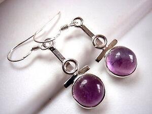 Purple Amethyst Triple Hoop 925 Sterling Silver Pendant Corona Sun Jewelry