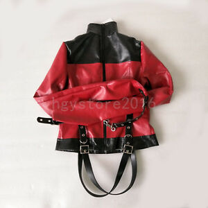 White Asylum Straight Jacket Costume S//M L//XL BODY HARNESS Restraint Armbinder