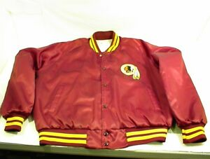 sale retailer f6ea2 11ba5 Details about VINTAGE WASHINGTON REDSKINS JACKET NFL FOOTBALL SATIN XL