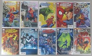 Amazing-Spider-Man-1-2-7-801-808-Run-Lot-10-Comics-Annual-Spencer-NM-VF-Marvel