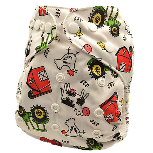 Unisex Modern Cloth Nappy Adjustable Reusable Nappies MCNs Free Inserts(D17)
