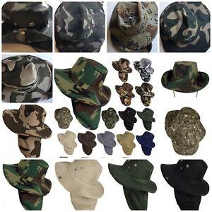 4bb44b91b25 Bonnie Hat Fishing Army Military Hiking Snap Brim Neck Cover Bucket ...
