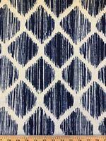 Linen Blend Navy Denali Richloom Solarium 60'' W Fabric Sold By The Yard