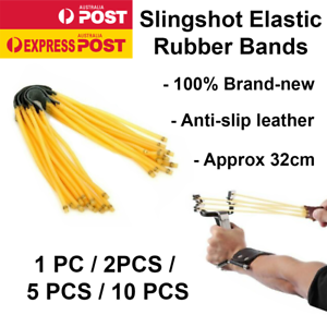 1//2//5//10 New Elastic Outdoor Hunting Bungee Catapult Slingshot Rubber Band 6