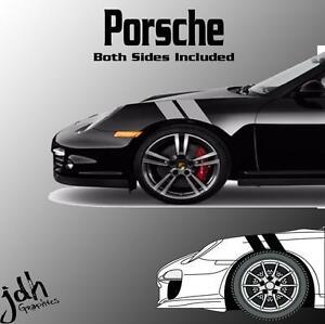 Porsche 911 Cayman Hash Mark Stripes Vinyl Decal Sticker Graphics