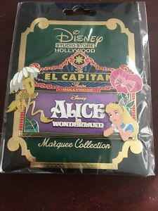 Disney-D23-2019-DSSH-El-Capitan-Alice-in-Wonderland-Marquee-Pin-LE-400-Flowers
