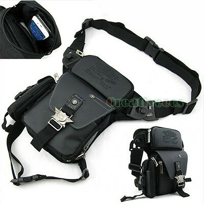 Men's Multipurpose Motorcycle Riding Messenger Hip Bum Waist Leg Thigh Drop Bag