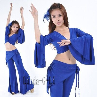 Tribal Pants Trousers Sexy Belly Dance Costumes Yoga Pants 9 Colors 2/5