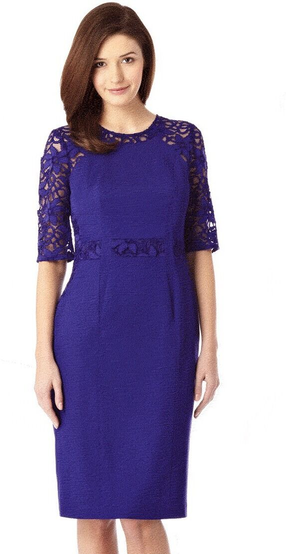 BNWT   Coast   Size 8 Elsa Lace Fitted Dress (36 EU) purplec Weddings, Party, New