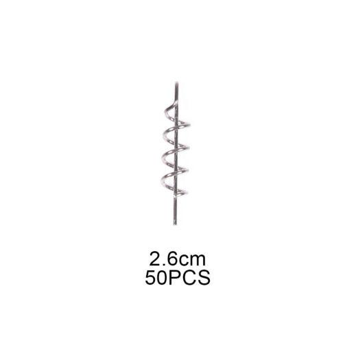 Angeln Federsperre Haken Kurbel 50 Stück Zentrieren Anstecknadel Tragbar