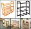 4-tier home furniture bamboo shoe shelf rack bench storage organizer entryway