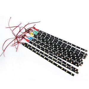 2PC-12-LEDs-30cm-5050-SMD-LED-Strip-Light-Flexible-12V-Car-Decor-Waterproof-NEW
