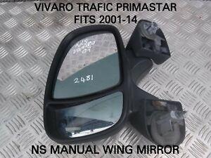 VIVARO-TRAFIC-PRIMASTAR-NS-MANUAL-WING-MIRROR-FITS-2001-14