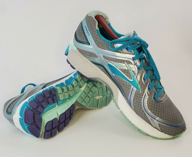 Brooks GTS 16 Womens Size 10 Gray Blue Running Jogging Athletic Sneakers Shoes