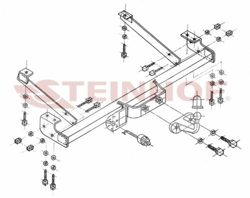 Tow Bar for Fiat Talento Van 2016 ON Models with FULL RELAY WIRING KIT